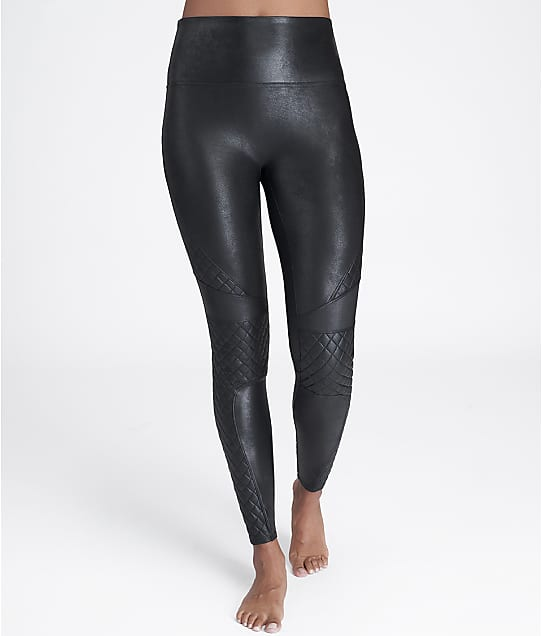 SPANX: Quilted Faux Leather Leggings