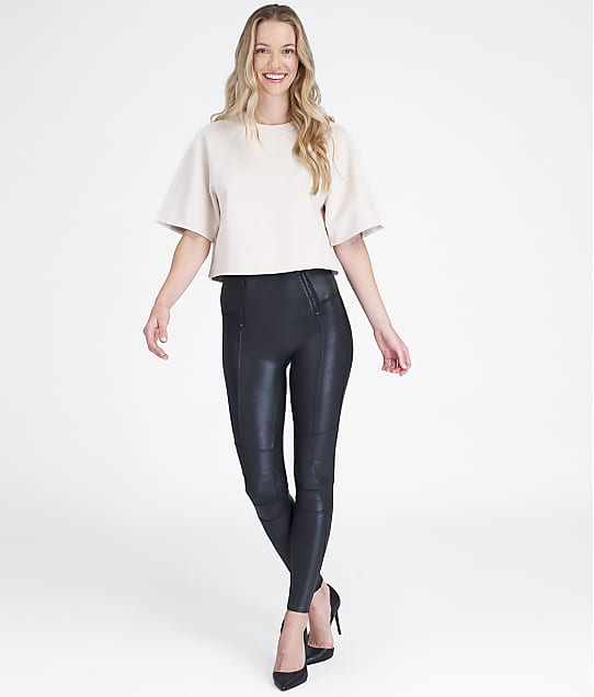 SPANX: Faux Leather Hip-Zip Leggings