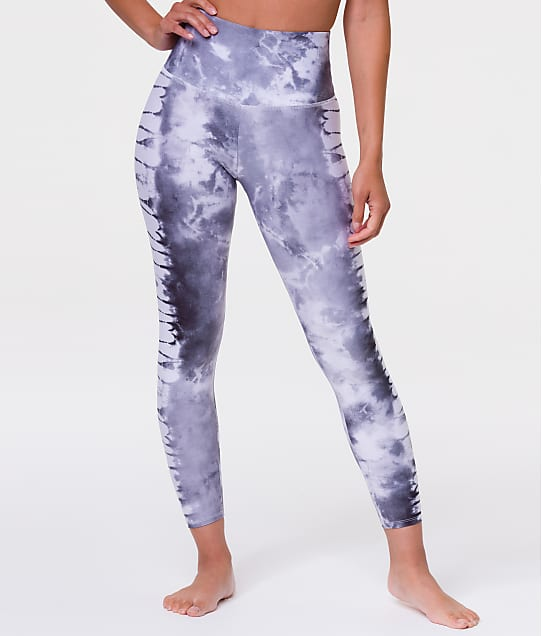 Onzie Graphic High Rise Leggings in Grey Tie Dye(Front Views) 2029G