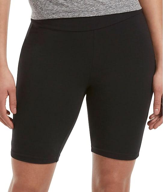 HUE High Rise Bike Shorts in Black 20627
