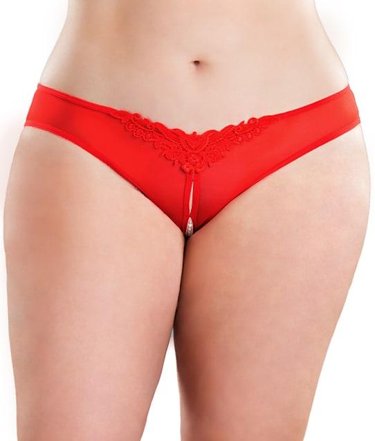 Oh La La Cheri: Plus Size Crotchless Pearl Thong