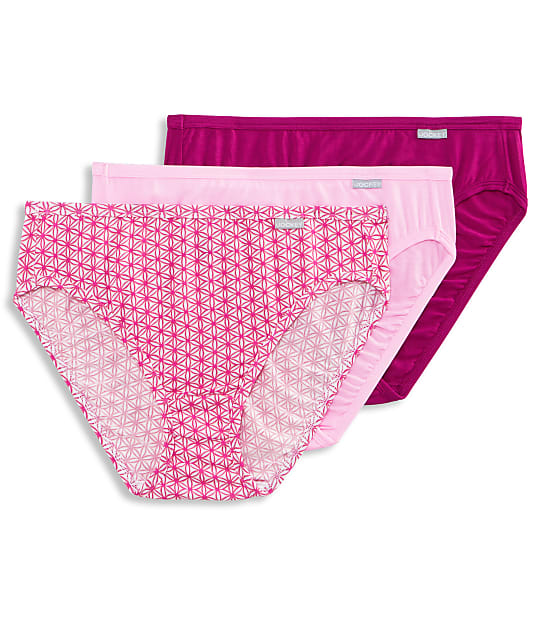 Jockey Elance Supersoft French Cut Brief 3-Pack in Pink Pearl Assorted(Front Views) 2071