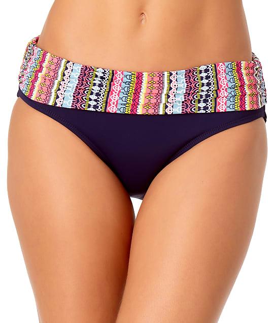 Anne Cole Signature: Jet Set Stripe Fold-Over Bikini Bottom