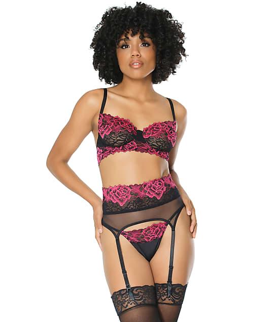 Coquette: Lace Bra & Garter Set
