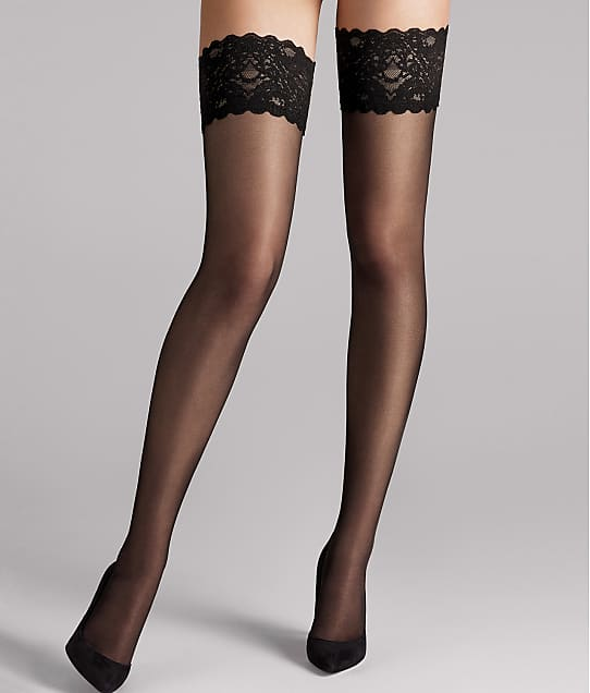 0746a7440 Wolford Satin Touch 20 Denier Evening Thigh Highs