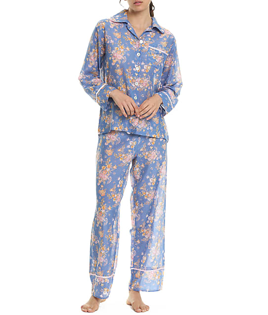 Papinelle Loulou Woven Pajama Set in Indigo 21262-1135