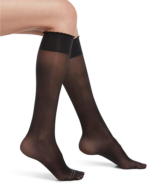HUE: Graduated Compression Sheer Knee Highs