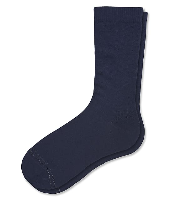 HUE Compression Crew Socks in Navy(Front Views) 21356