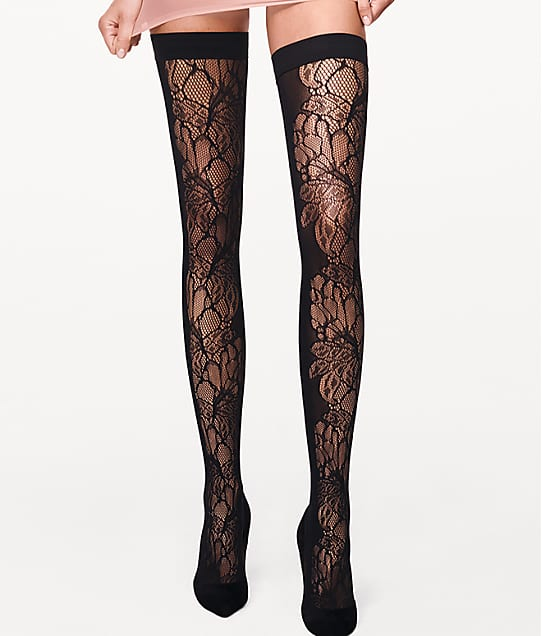 Wolford: Blossom Thigh Highs