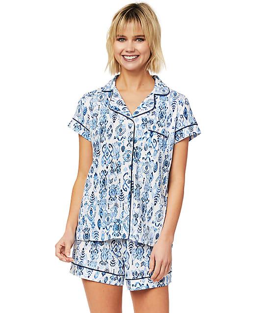 The Cat's Pajamas: Ikat Marine Pima Knit Pajama Set
