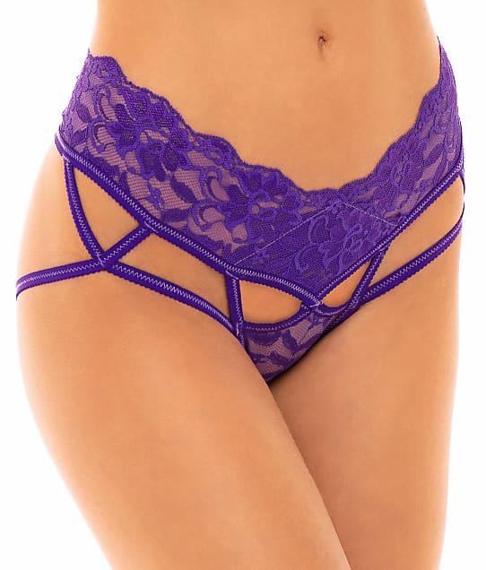 Oh Là Là Chéri   Keily Crotchless Open Back Bikini in Purple 22-11573