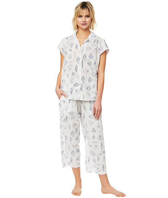 The Cat's Pajamas: Sanibel Island Luxe Pima Woven Capri Pajama Set
