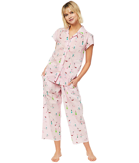 The Cat's Pajamas: Promenade Luxe Pima Woven Capri Pajama Set