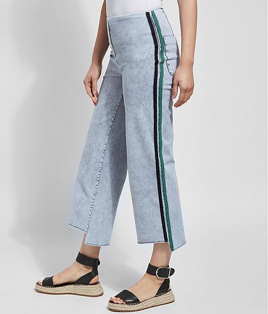 Lyssé: Medium Control Emilia Wide Leg Cropped  Denim Pants
