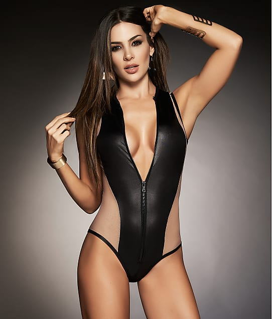 Mapalé: Zip-Up Colorblock Wireless Bodysuit