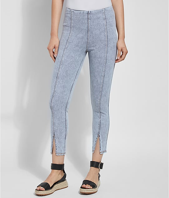 Lyssé: Medium Control Evelyn Split Cropped  Denim Leggings