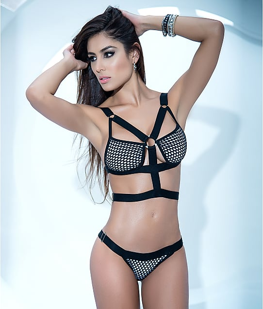 Mapalé: Fishnet Wireless Bra Set