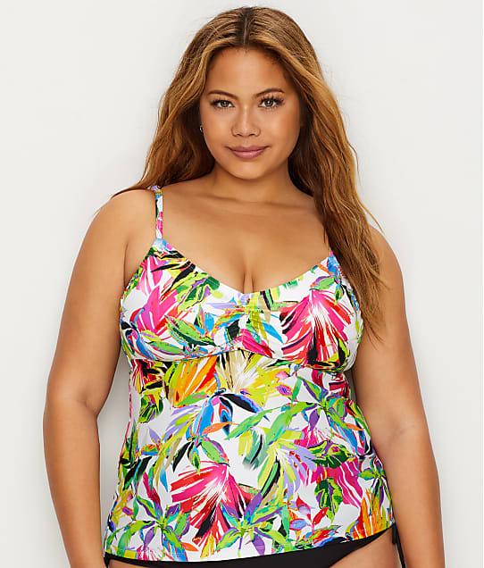24th & Ocean: Plus Size Sayulita Sunset Tankini Top