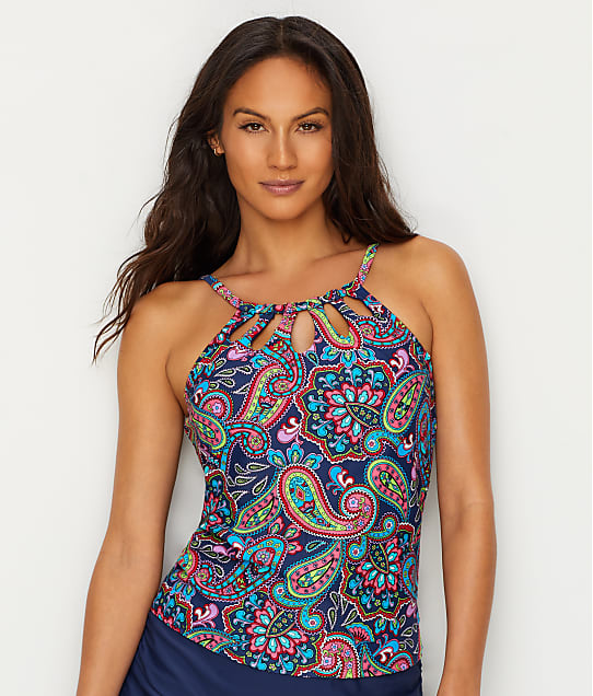 24th & Ocean: Paisley Fields Underwire Tankini Top