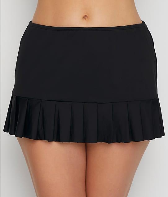 24th & Ocean Solid Smoothing Swim Skirt in Black(Full Sets) TF9G697
