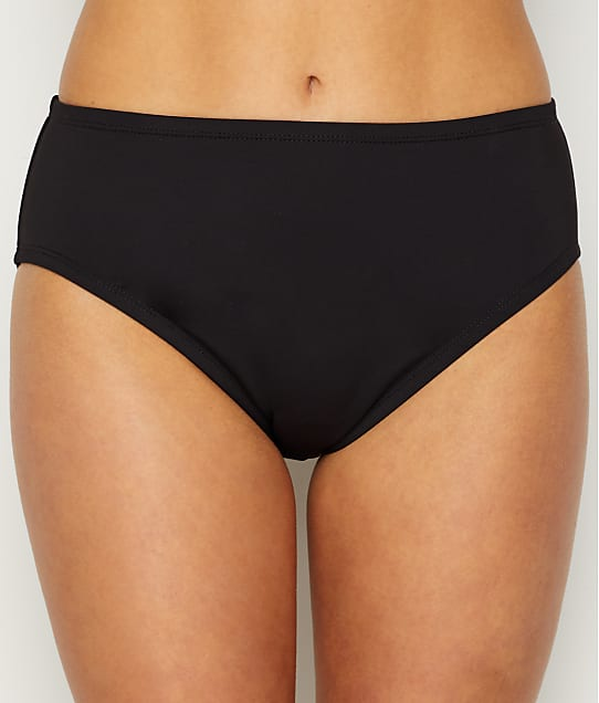 24th & Ocean Solid Smoothing Bikini Bottom in Black(Full Sets) TF9G699