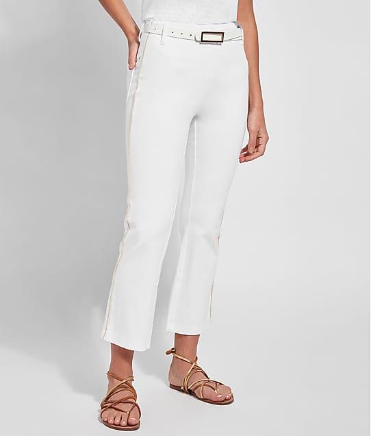 Lyssé Medium Control Octavia Baby Bootcut Denim Pants in White / Gold(Front Views) 2537