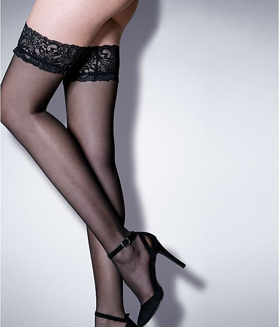 Pour Moi Adore Lace Top Thigh Highs in Black 253