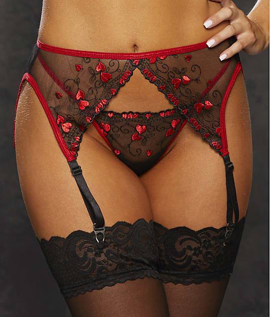 Shirley of Hollywood: Mini Hearts Garter Belt