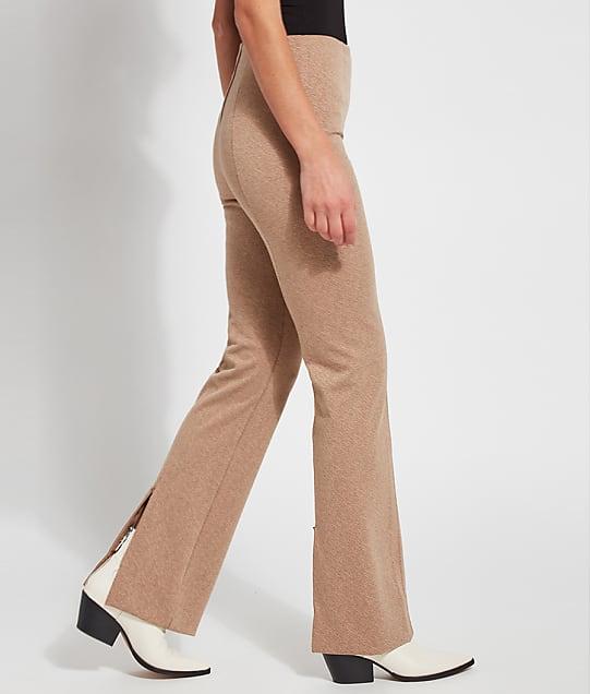 Lyssé Medium Control Lund Ponte Baby Bootcut Pants in Light Camel(Front Views) 2625