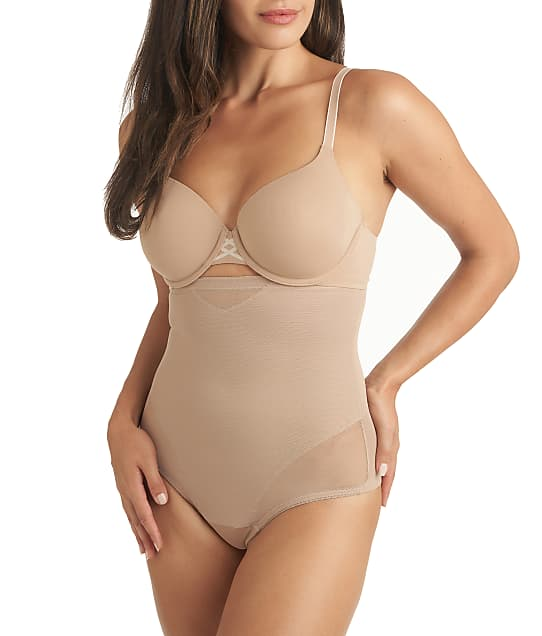 Miraclesuit Sexy Sheer Extra Firm Control High-Waist Thong in Stucco(Front Views) 2778