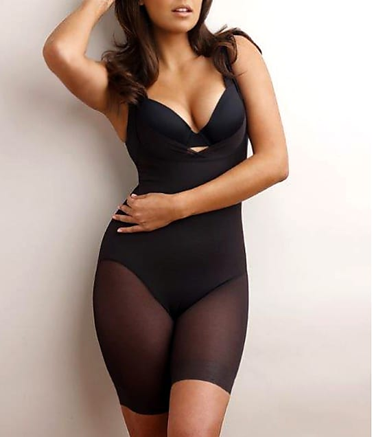 Miraclesuit Sexy Sheer Extra Firm Control Open-Bust Bodysuit in Black 2781