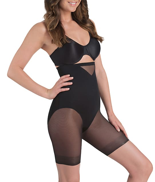 Miraclesuit Sexy Sheer Extra Firm Control High-Waist Thigh Slimmer in Black 2789