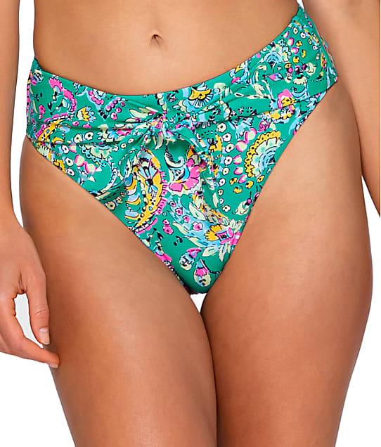 Sunsets: Paradise Paisley Tessa Tie High-Waist Bikini Bottom