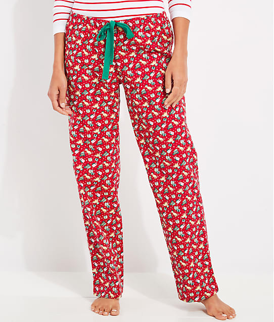 Vineyard Vines: Red Velvet Knit Pajama Pants