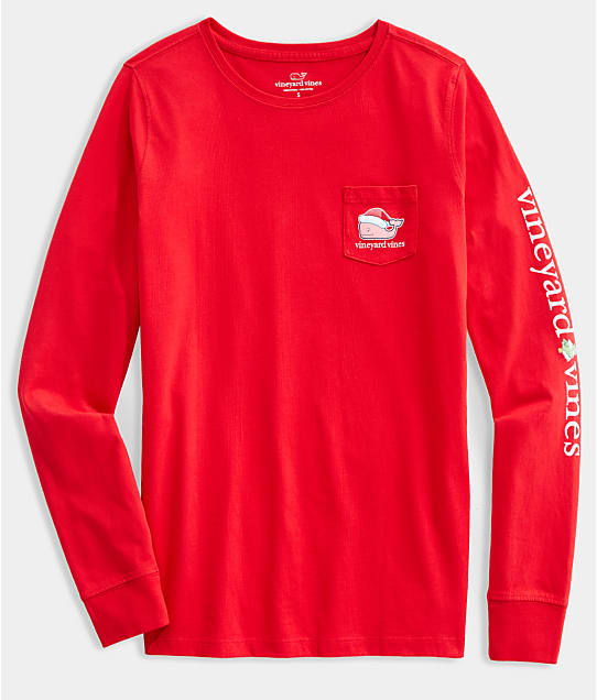 Vineyard Vines: Santa Whale Knit Tee