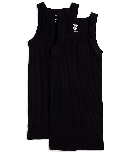 2(x)ist: Cotton Essential Square Cut Tank 2-Pack