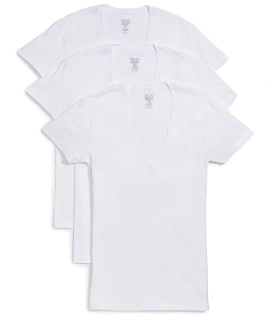 2(x)ist: Cotton Essential Deep V-Neck T-Shirt 3-Pack