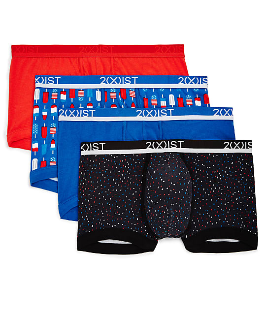 2(x)ist: Cotton Stretch No-Show Trunk 4-Pack