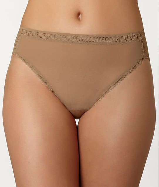 OnGossamer: Plus Size Mesh Hi-Cut Brief