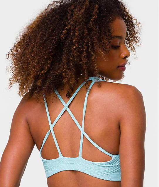 Onzie Mudra Sports Bra in Blue Tint(Back Views) 3098