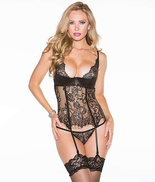 Shirley of Hollywood: Eyelash Lace Bustier Set