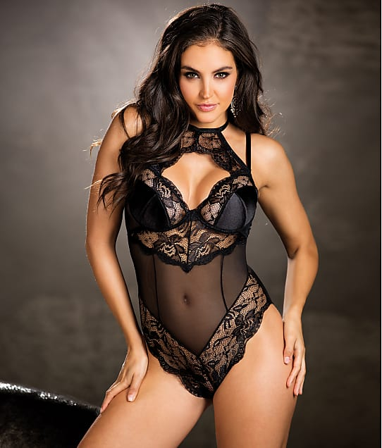 a0a298b144b Shirley of Hollywood Lace And Mesh Teddy