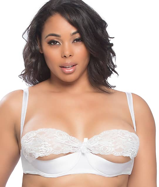 Oh Là Là Chéri  : Plus Size Raquel Satin & Lace Shelf Bra
