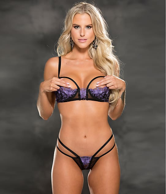 Shirley of Hollywood: Strappy Open Cup Bra & Panty Set