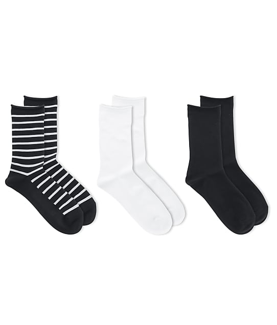 Ralph Lauren: Saint James Stripe Crew Socks 3-Pack