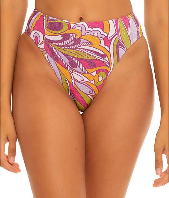 Becca Psychedelica Danielle High-Waist Bikini Bottom in Mulberry 364617