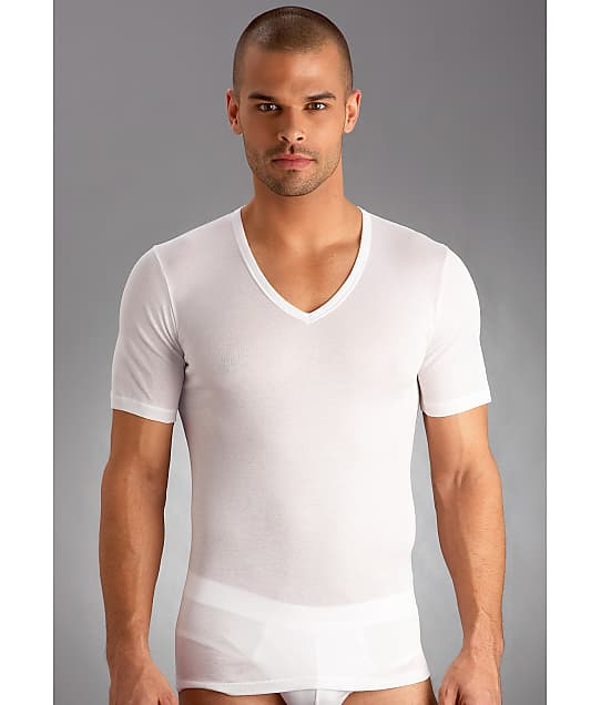 Hanro: Cotton Pure V-Neck T-Shirt