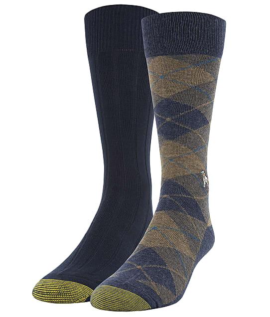 Gold Toe: Dog & Plaid Dress Socks 2-Pack