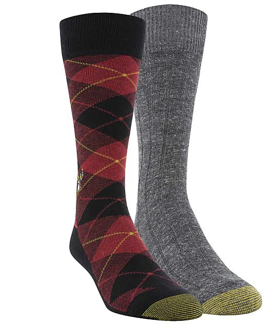 Gold Toe: Deer & Plaid Dress Socks 2-Pack