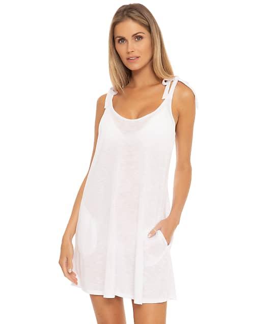 Becca Breezy Basics Scoop Dress Cover-Up in White 3761171